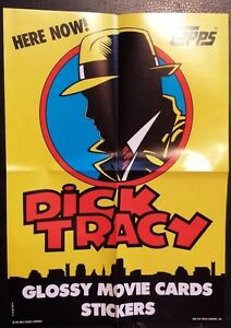 1990-TOPPS-DICK-TRACY-TRADING-CARDS-PROMO-POSTER-NICE-WALT-DISNEY-CO