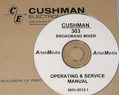 CUSHMAN 302 DEVIATION METER OPERATING /& SERVICE MANUAL
