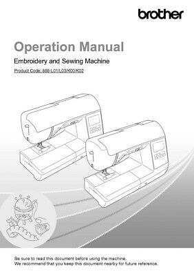 Brother Innov-is NS2750D Sewing Embroidery Machine Owners Manual Reprint on