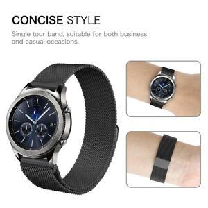 For-Samsung-Gear-S3-Gear-S2-Gear-Sport-Wristband-Stainless-Steel-Metal-Strap