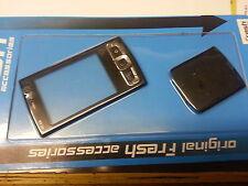 Frontal De Carcasa De Cristal Fascia Rostro + Cubierta De Batería Para Nokia N95 8g Negro