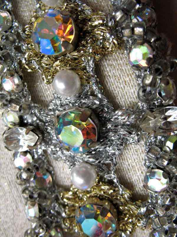 Ceil Chapman Dress VTG 60s Metallic Silk Aurora B… - image 3