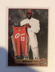 Lebron James 2003 #221 RC Rookie Cavaliers Lakers Mint Reprint Draft Pick #1
