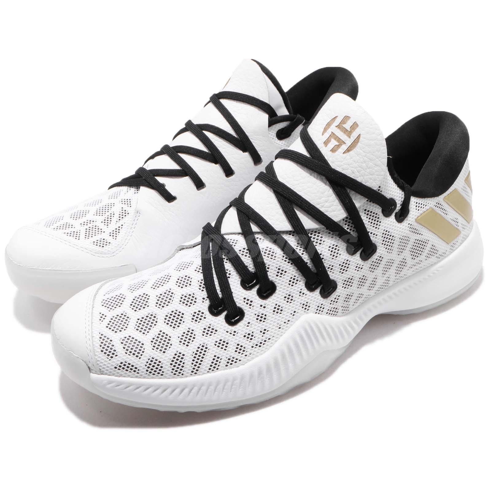 Adidas Harden B E James Harden White Black gold gold gold Men Basketball shoes AC7821 8405c8