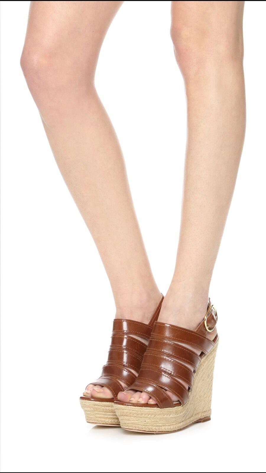 NEW  348 Rachel Zoe Gia Espadrille Wedge Sandals shoes 8.5 M Brandy
