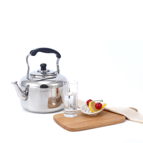 Stainless Steel Whistle Kettle Whistling Hot Water Pot Tea Coffee Maker 4L