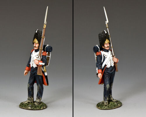 NA403 Old Guard Shoulder Arms by King /& Country w//musket on the left arm