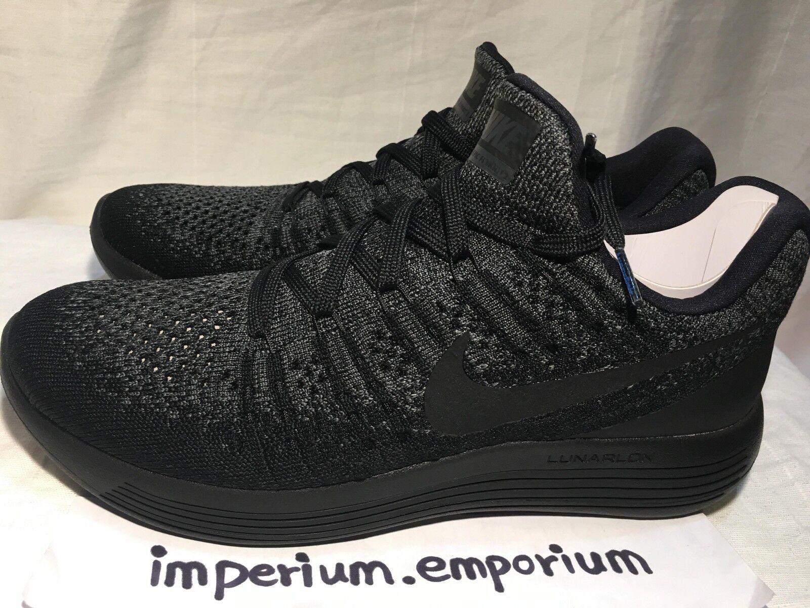 Wo Hommes Nike Trainers Lunarepic Low Flyknit 2 Trainers Nike Sneaker Noir / Gris /bleu 28a29f