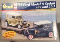 Revell '31 Ford Model A Sedan, Hot Rod 2 'n 1, 1:25 Scale Model Kit  #85-2169