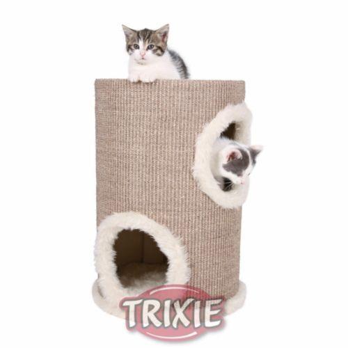 Trixie Cat Tower Edoardo, Sisal, Ø 33×50 cm, Taupe Cream