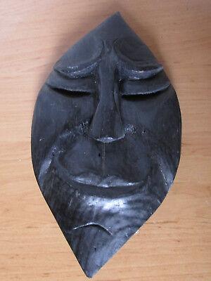 1 Holzmaske, Handgeschnitzt, Ca. 27 Cm Hoch Moderater Preis