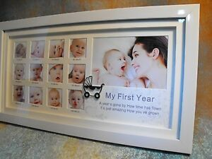 Baby Boy Girl First Year Photo Frame Gift Baby Boy Girl 1st Year