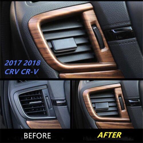 For Honda CRV CR-V 2017-2019 Peach Wood Grain Side Air Vent Outlet Cover Trim 2P