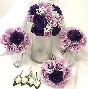 Silk wedding bouquet dusty mauve dark purple flowers roses bouquets image is loading silk wedding bouquet dusty mauve dark purple flowers mightylinksfo