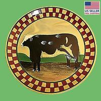 Collector Plates Ceramic Brown Cow Dinner Plate Handpainted | Renovator's Supply on Sale