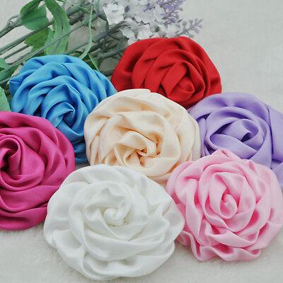 7pcs Big Ribbon Flowers Sewing Appliques DIY Crafts Wedding Decoration B183