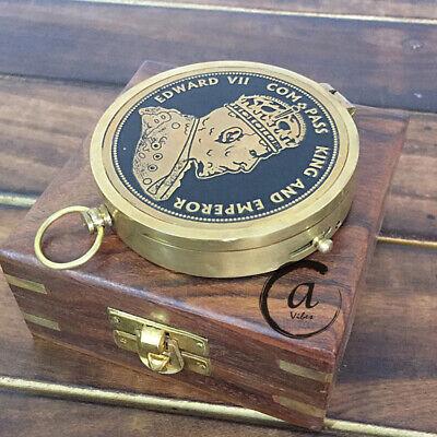 Edward Vintage Style Compass Mit Dekorativer Holzkiste Geschenk Für Männer/fraue Technik & Instrumente Kompasse