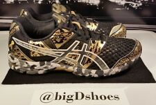 Men's Asics Gel-Noosa Tri 8 Running Athletic Shoes US size 9 Black and Gold