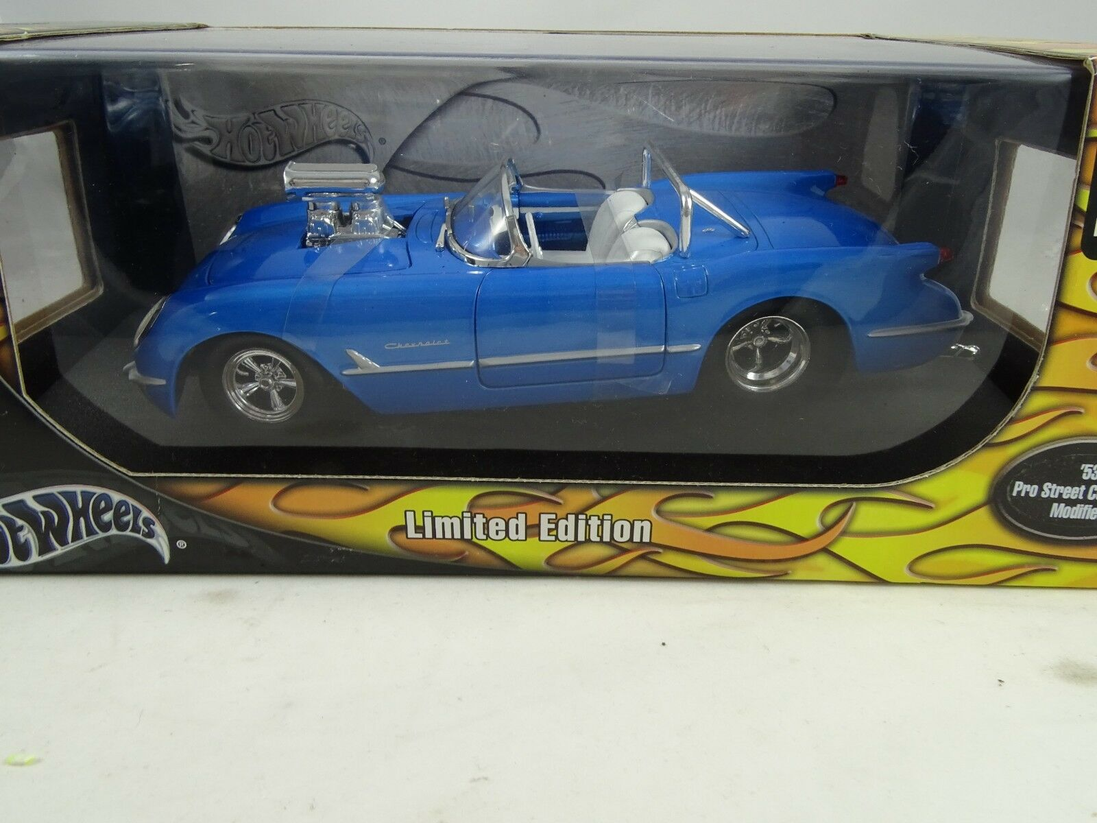 1 18 Hot Wheels  B6067 - 1953 Pro Street Corvette Blau  -  RARITÄT §