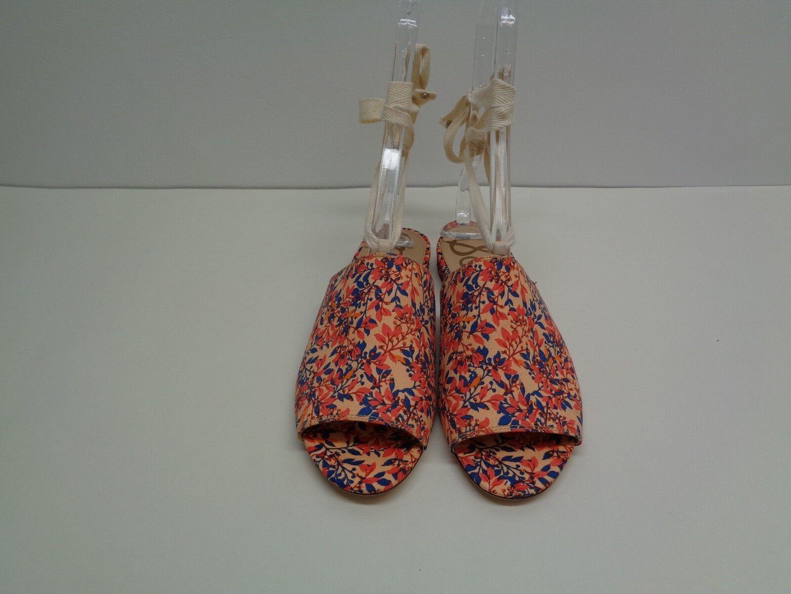 Sam Edelman Größe 7 Fabric M TAI Coral Fabric 7 Ankle Wrap Sandales New Damenschuhe Schuhes bfc371