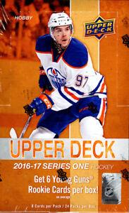 2016-17-Upper-Deck-Series-1-Hockey-Hobby-Box-Factory-Sealed-Auston-Matthews