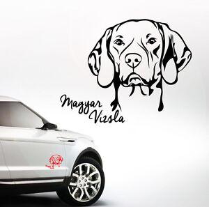 awilport auto aufkleber magyar vizsla portrait hund hunde wilsigns siviwonder ebay. Black Bedroom Furniture Sets. Home Design Ideas