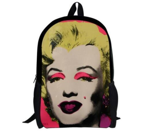 New Marilyn Monroe Vegeta Son Girls Boys School Backpack Kids