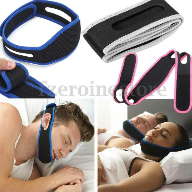 Stop Snoring Chin Strap Anti Snore Belt Apnea Jaw Support Solution Healthy Sleep