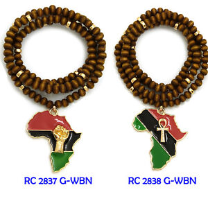 Fist ankh in africa pendant 6mm 30 wooden bead hip hop necklace image is loading fist ankh in africa pendant 6mm 30 034 aloadofball Choice Image