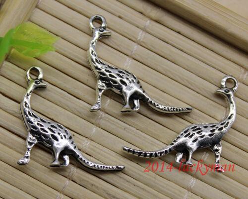 30//60//100pcs Retro Jewelry Making À faire soi-même Dinosaur Alliage Charms Pendentif 20x21mm