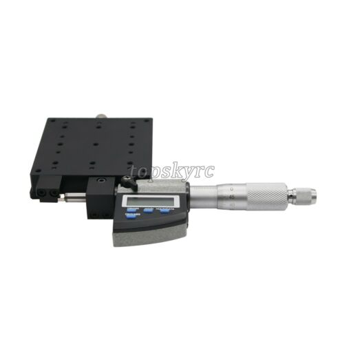 X-Axis Manual Linear Stage High Precision 80*80mm with Digital Micrometer LCD ts
