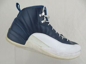 NIKE-Air-Jordan-12-XII-Retro-Obsidian-Blue-Sz-15-Men-Basketball-Shoes
