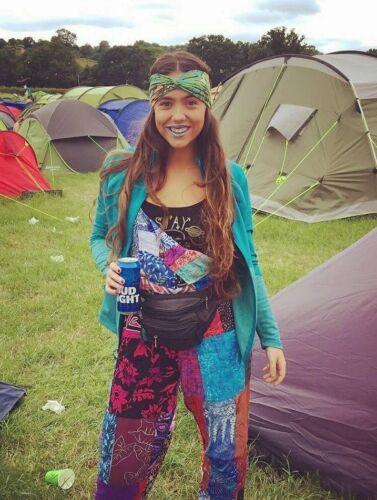 S M L XL XXL Patchwork Dungarees Jumpsuit Aztec Funky Festivals Hippy Boho