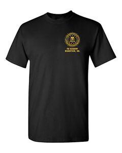 FBI-F-B-I-Academy-Quantico-VA-Virginia-Men-039-s-Tee-Shirt-1805