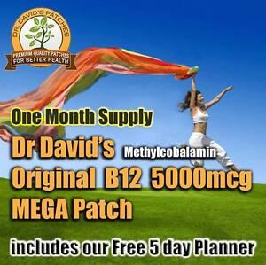 Dr-David-039-s-B-12-MEGA-Patch-B12-5000mcg-Methylcobalamin-PREMIUM-QUALITY-Meth