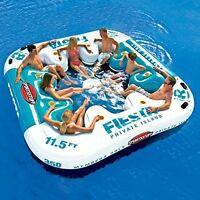 8 Person Inflatable Floating Party Island River Lake Beach Pool Water Raft
