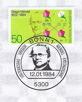Brd 1984: Gregor Johann Mendel Nr 1199 Mit Bonner Ersttagssonderstempel! 1a 1606 Rheuma Lindern