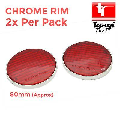Red Reflector Round 2 Piece Pack Trailer Caravan Rear Small Self Adhesive