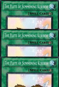 3x The Flute of Summoning Kuriboh x3 Yugioh 1st Edition RYMP-EN022 Playset NM