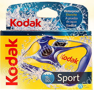Kodak-Sport-Underwater-Waterproof-DISPOSABLE-35mm-Camera-BY-Ist-CLASS-POST