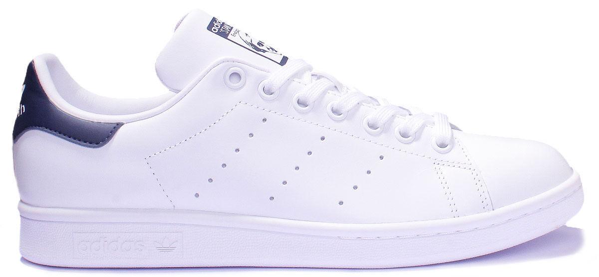 Adidas Navy Stan Smith Womens White Navy Adidas B Grade Trainers Size UK 3 - 8 e25c92