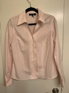 Jones Wear Essentials Light Pink Career Blouse Shirt QuickCare NWOT Sz 8 Cotton