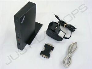 IBM Lenovothinkpad T470p USB 2.0 Dockingstation Port Replikator W / DVI + PSU