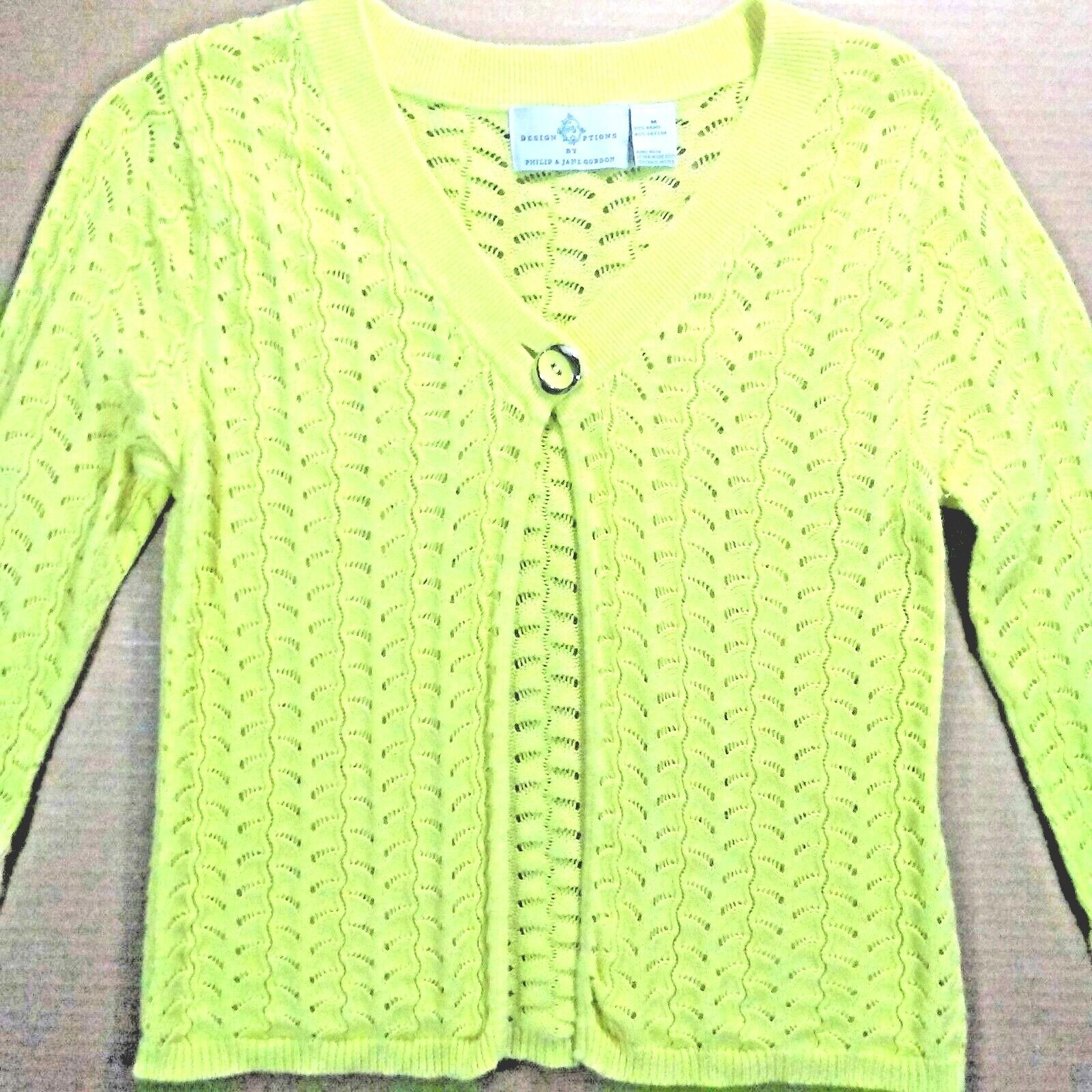 dc9ee72d0 Cardigan Knit Yellow Open Gordon & Philip Options Design Sweater ...