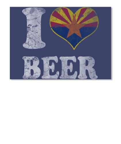 Landscape I Love Arizona Beer Flag T Sticker