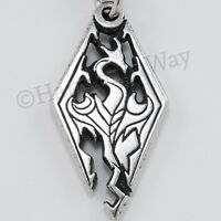 Skyrim Dragon Amulet Protection Necklace Pendant Store Double-sided