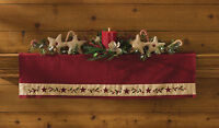 Mantle Scarf - Table Runner 36l - Christmas Star By Park Designs - Holiday