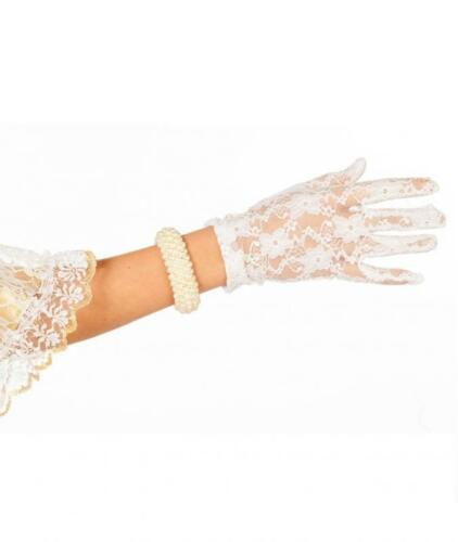 Handschuhe Fingerhandschuhe Kostüm Kleid Spitze Mittelalter Barock Rokoko Lady