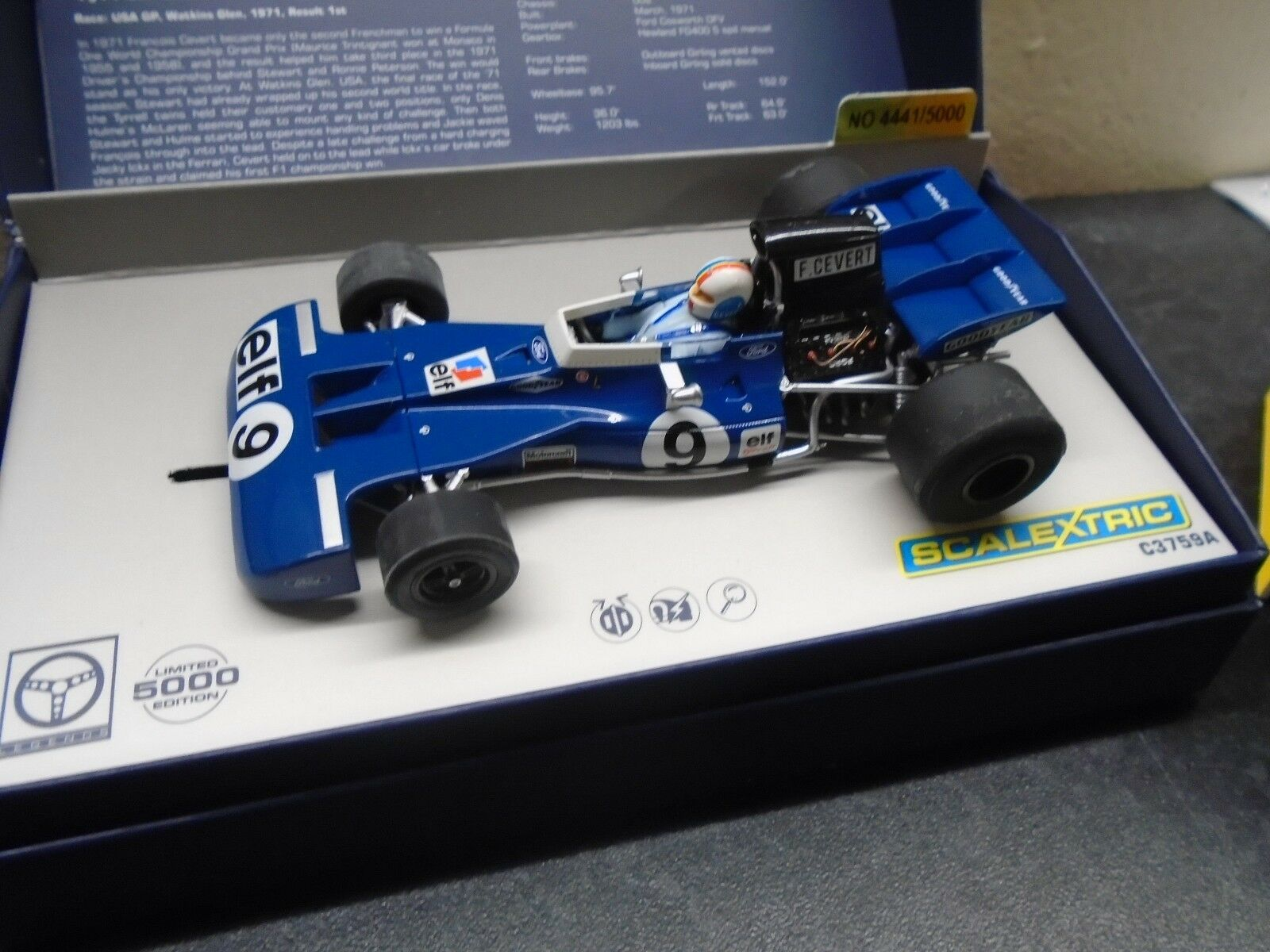 Scalextric  Legends C3759a Tyrell 002 F1 Cegreen m b