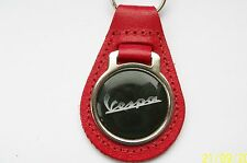 VESPA RED LEATHER KEYRING, KEY CHAIN, KEY FOB